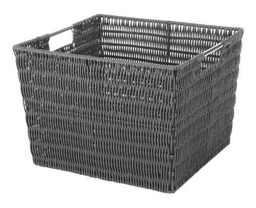 Whitmor Rattique Storage Tote Grey