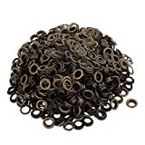 uxcell 500pcs 6.5mm Brass Eyelet Grommets Bronze Tone for Clothes Leather Canvas