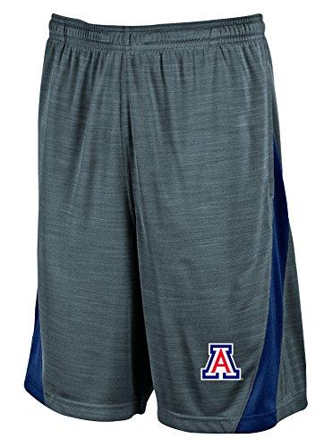 NCAA Arizona Wildcats Men's Boosted Stripe Color Blocked Training Shorts, Small, Gray