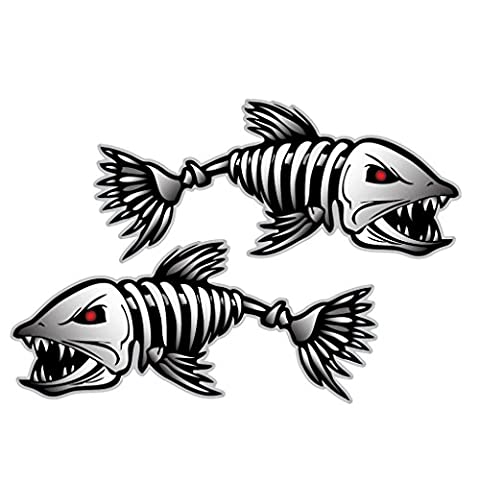 Skeleton Fish Bones Vinyl Decal Sticker Kayak Fishing Boat Car