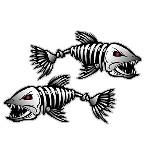 Skeleton Sticker Fishing Graphics Generic