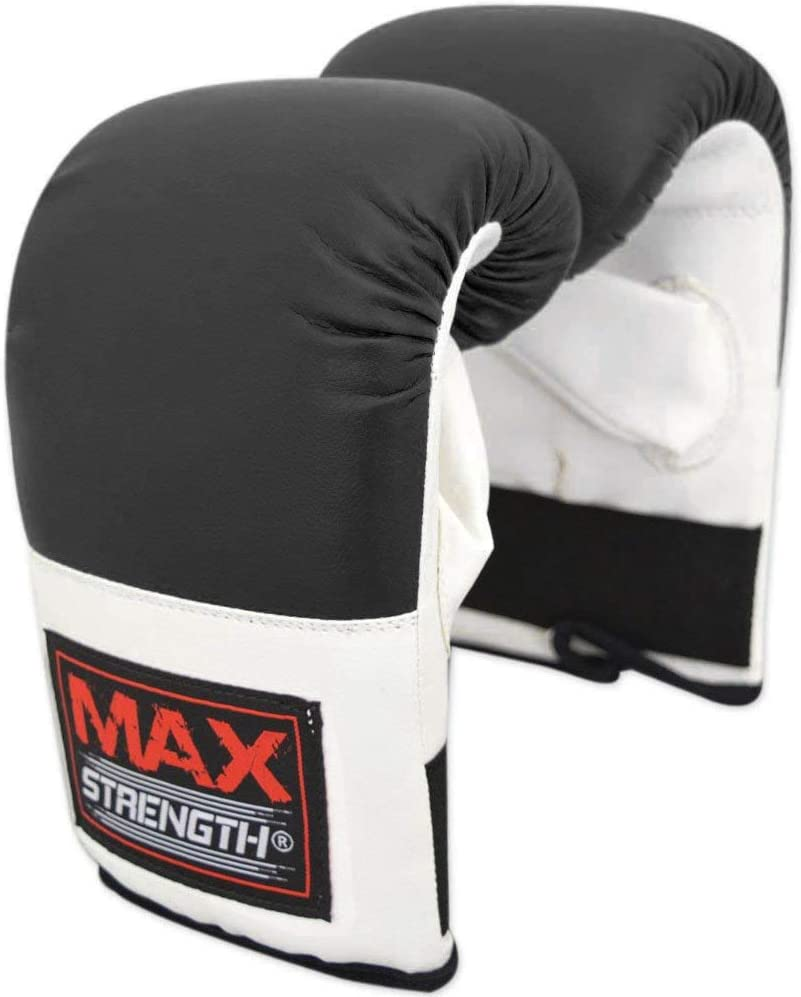 MAXSTRENGTH Boxing Pads and Gloves Set Karate Boxercise Training | Hand Pads for MMA Bag Gloves Focus Pad Hook and Jab Target Kickboxing Muay Thai Martial Arts