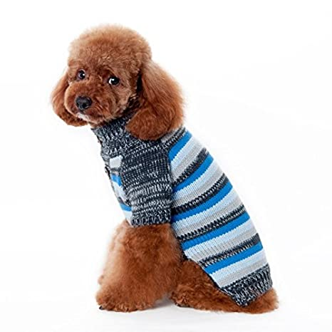 Amazoncom Dogo Marl Stripes Dog Sweater Blue Extra Extra Large
