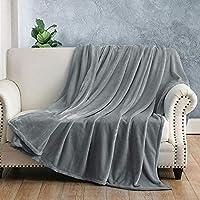 Jaoul 50 x 60 inch Thick Warm Flannel Fleece Throw Blanket (Grey)