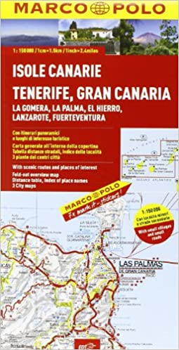 Cartina Geografica Canarie.Amazon It Isole Canarie 1 150 000 Libri