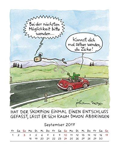 Skorpion 2017 Sternzeichen Cartoonkalender Kalender Wandkalender