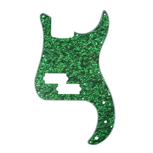 Musiclily P Bass pickguard for Precision Bass Guitar, 4Ply Pearl Green
