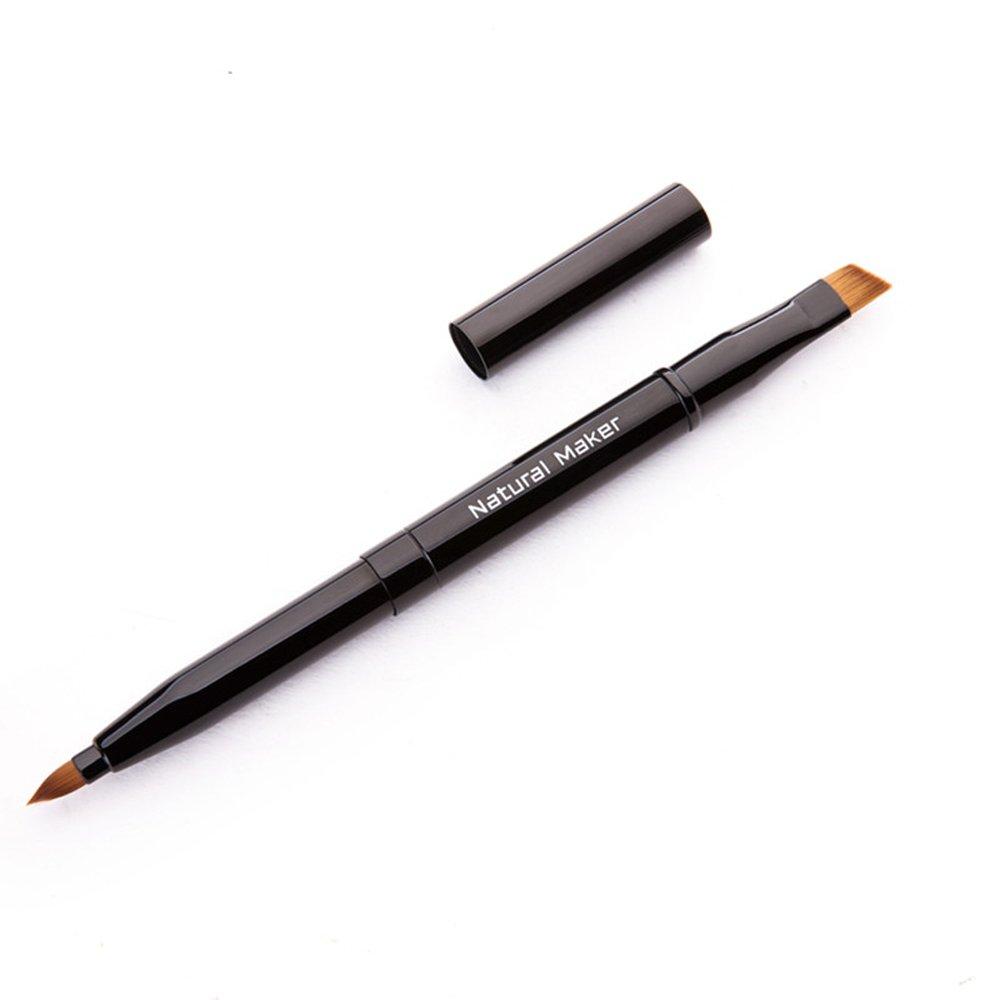 FT SM CS Cosmetic Brush Retractable Portable - Animal Hair - Lip Brush Lipstick Brush Eyebrow Brush Pen - With Cover Multipurpose