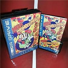 Mega Bomberman EU Cover with Box and Manual For Sega Megadrive Genesis Video Game Console 16 bit MD card - Sega Genniess - Sega Ninento, 16 bit MD Game Card For Sega Mega Drive For Genesis