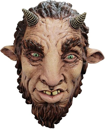 Satyr Faun Adult Latex Mask Half Man Half Goat Greek Mythology Costume Accessory