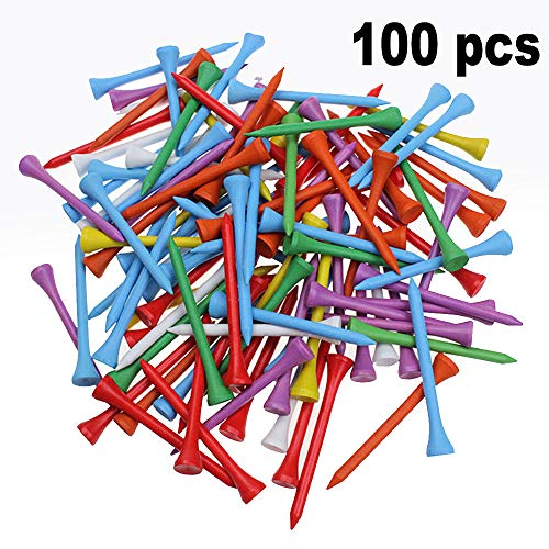 Kofull Professional 2-3/4 Deluxe Wood Colorful Golf Tee -100 Count(Mix)