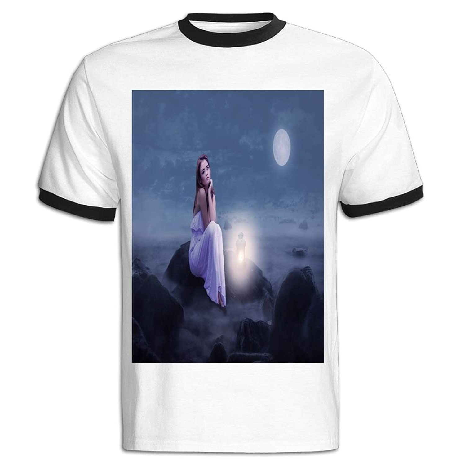 Jackjom Full Moon Night Mood Hit Color T Shirt For Men Amazon