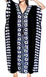 LA LEELA PV Solid Long Caftan Resort Dress Women Black_4093 OSFM 14-28W [L-4X]