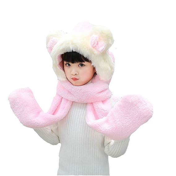 bd749c129 Unisex para niños Suave Invierno cálido con Capucha Bufanda Pañuelo de  Cuello de la Camisa con Capucha Sombrero (Color   B)  Amazon.es  Hogar