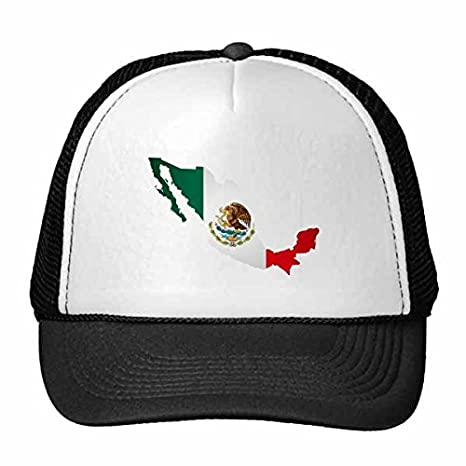 Amazon.com : Red Green Mexico Map Emblem Eagle Eat Snake Trucker Hat Baseball Cap Nylon Mesh Hat Cool Children Hat Adjustable Cap Gift : Sports & Outdoors