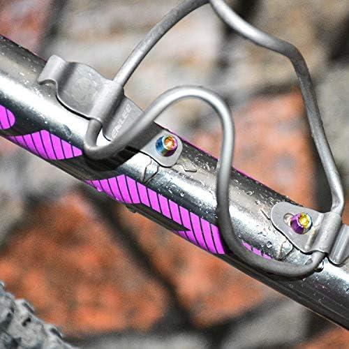 elegantstunning Mountain Bike Titular portabid/ón de aleaci/ón de Titanio Ultraligero Hervidor Rack Jaula Bike MTB Accesorios para Ciclismo