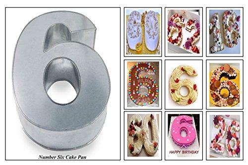 Euro Tins molde para tarta de cumpleaños de número pequeño SEIS 6 (tamaño 25 x 18 cm - 5,5 cm de profundidad): Amazon.es: Hogar