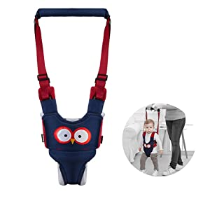 Baby Walking Harness Adjustable Detachable Baby Walker Assistant Protective Belt for Kids Infant Toddlers (Blue)