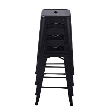 Amazoncom Changjie Furniture 24 High Backless Metal Bar Stool