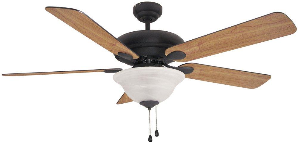 Hardware House 54-3561 Tuscany 52-Inch Triple Mount Ceiling Fan, Medium Oak or Black