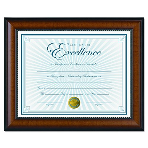 DAX Document Frames, 10-5/8 x 13-1/8 Inches, Black/Walnut (DAXN3028N1T) ()