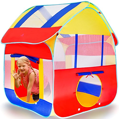 Kiddey Kids Play Tent, Great Playhouse Tent for Indoor/Outdoor, Pops Up no Assembly Required, with Convenient Carry Case…