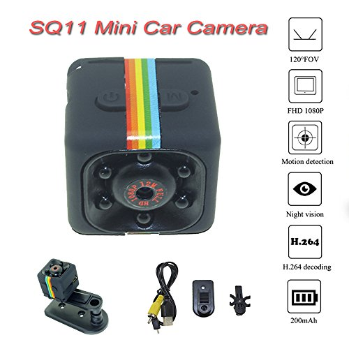 SQ11 Mini FPV Camera Car DVR HD Camcorder 3.6mm 12MP Motion Sensor Full HD 1080P Camcorder Night Vision Sports Mini DV Video Recorder by Soulload