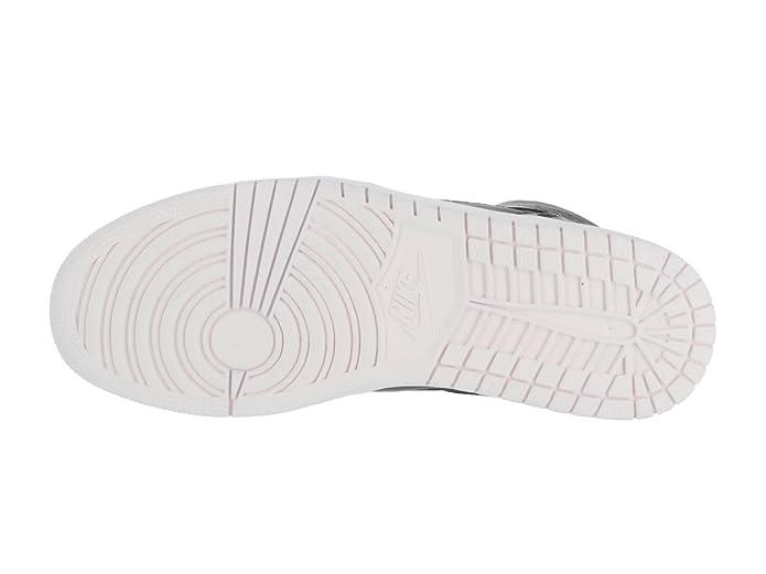 on sale 711bd 6db5a Amazon.com   NIKE Mens Air Jordan 1 Ret High Nouv BHM Black White-Voltage  Green Leather   Basketball