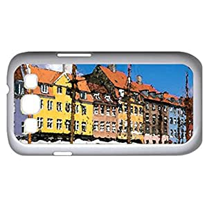 Nyhavn Copenhagen - Watercolor style - Case Cover For Samsung Galaxy S3 i9300 (White)