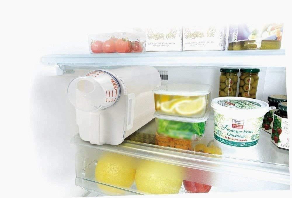 Snner Cuisine Riz 2 kg Bo/îte de Rangement Alimentaire Grains de Stockage portatif r/éservoir Peut avec Boucle et Bec verseur