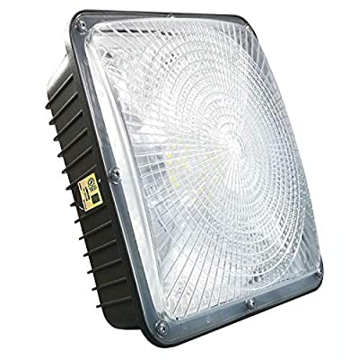 75W LED Canopy Light with UL Listed and DLC Certified,5000K,7500LM,300-350W HPS/HID Canopy Light Replacement,Waterproof and Outdoor Rated,5 Years Warranty