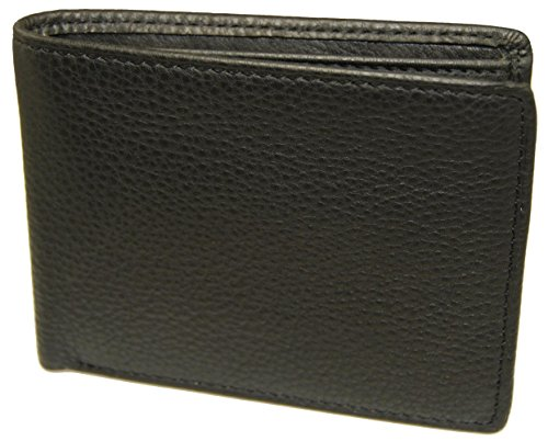 Castello Italian Soft Pebble Grain Leather Billflod with RFID Security