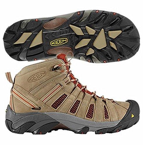 KEEN Men's Voyageur Mid Hiking Boots, Brindle, 7.5