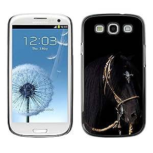 TopCaseStore / la caja del caucho duro de la cubierta de protección de la piel - Gallop Mane Stallion Harness - Samsung Galaxy S3 I9300