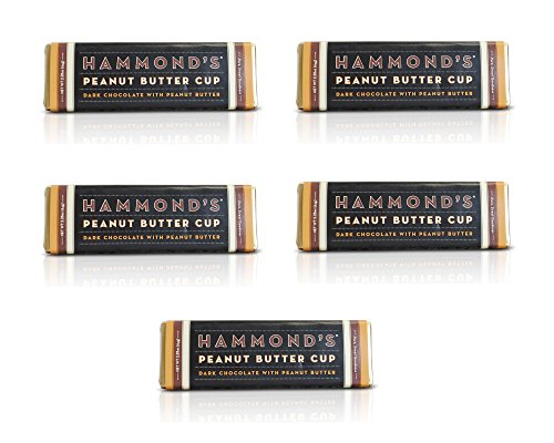 Hammonds Gourmet Dark Chocolate Bar - Peanut Butter Cup (5 pack) (2.25 oz each) - Kosher