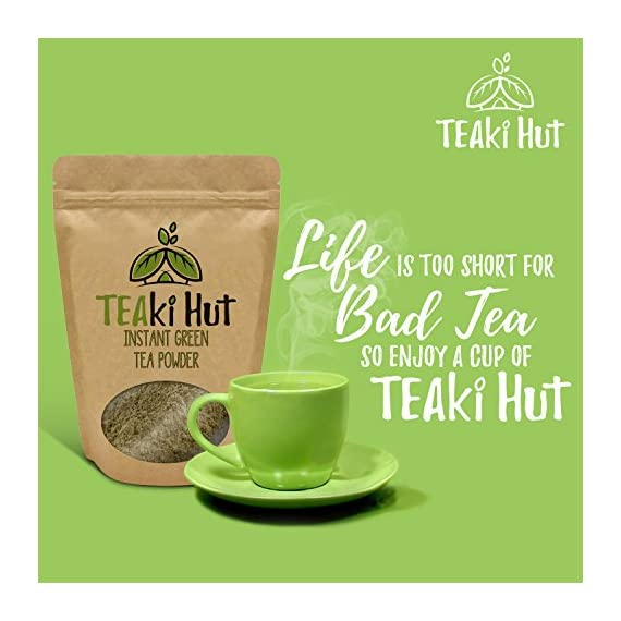 Instant Green Tea Powder - 100% Pure Tea - No Fillers, Additives or Artificial Ingredients of Any Kind 5 ✔ THE BEST GREEN TEA POWDER TO LOSE WEIGHT: Scientific studies have discovered that the main ingredients responsible for green tea slimming effects are caffeine and EGCG (epigallocatechin gallate). ✔ ONE SINGLE INGREDIENT: 100% pure green tea made from ground tea leaves. No flavors, preservatives, colors or fillers of any kind added. Not the diluted, off-tasting chemical filled product you're used to buying in the supermarket. This is as pure as it gets! ✔ HEALTHY ALTERNATIVE TO COFFEE: Minimally processed, and free of additives, Tea Factory Instant Green Tea offers a delicious, easy to consume instant tea that contains over one hundred times more antioxidants as compared to brewed tea.