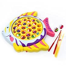 Magnetic Go Fishing Game Board Set Fish Toy Shape Board with 21 Fishes 4 Fishing Rods and Music for Educational Learning The Best Gift for 3 Years Old Boys Girls Gifts