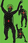 UsefulThingy Zombie Shooting Target Splatter Targets 12x17.5 inch - Reactive Paper Shoot n See 10/30 / 50 Pack - Rifle Handgun Shotgun Airsoft BB Gun - Range Accessories, Bright Green