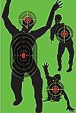 cheap beebee guns - Zombie Shooting Target Splatter Targets 12x17.5 inch - Reactive Paper Shoot n See 10 / 30 / 50 Pack - Rifle Handgun Shotgun Airsoft BB Gun - Range Acessories, Bright Blast Green (Green 10 pack)