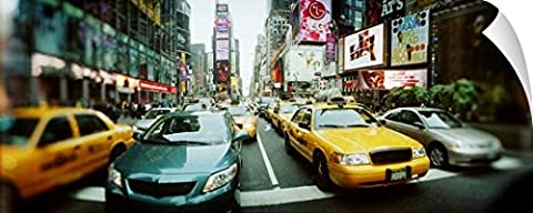 Canvas On Demand Wall Peel Wall Art Print entitled Traffic on a road Times Square Manhattan New York City New York (72 Hours New York Times)