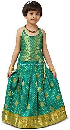 Ethnic Wear Kids Festival Dress,Girl Lehenga Choli,Designer Indian Pavada Pattu