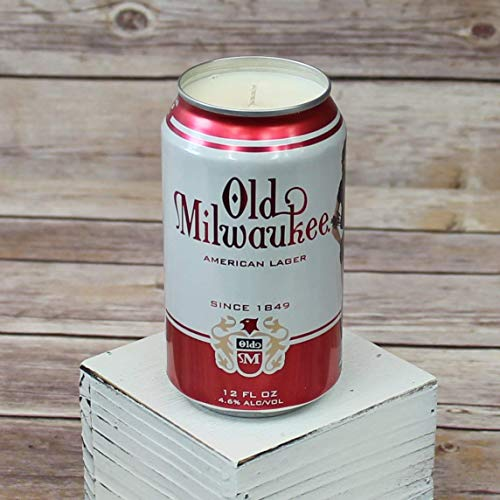 Old Milwaukee Can Soy Candle with Custom Scent in 12 oz Aluminium Can
