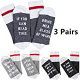 Funny Socks Gifts For Women Bring Me A Glass Wine Socks With Fun Sayings