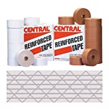 Central T907250W Medium Duty 250 Reinforced Tape, 450' Length x 3'' Width, White (Case of 10)