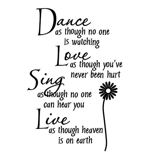 Dolland Dance Love Sing Live Wall Quotes Decal Removable Wall Stickers Home Decor Art (Wallpaper Quotes)
