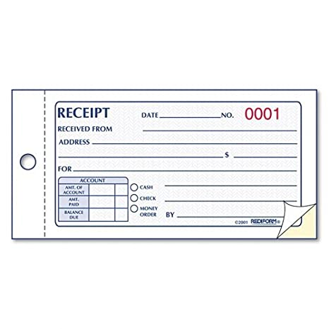 Amazon.com: RED8L820   Rediform Small Money Receipt Book: Health U0026 Personal  Care  Money Receipts