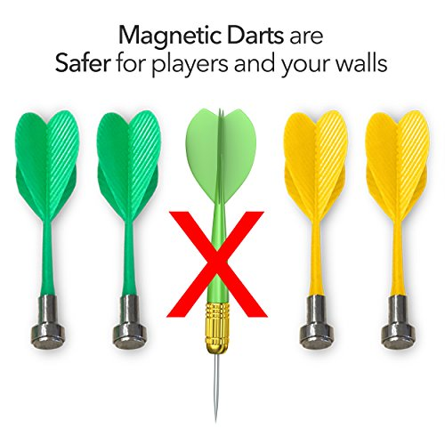 Giggle N Go Reversible Magnetic Dart Board For Kids Excellent