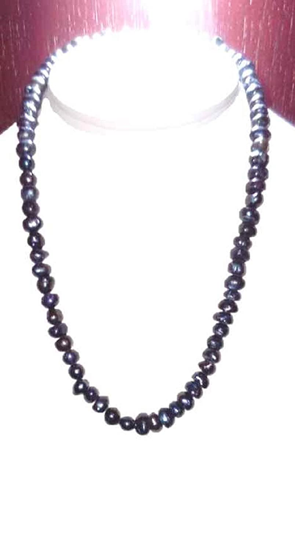 67592a1c8973 Set Collar Pulsera Aretes Con Perlas Cultivadas Negras A063  Amazon.com.mx   Handmade