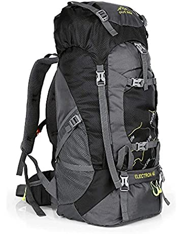 OUTLIFE Hiking Backpack 60L Lightweight Water Reasistant Trekking Bag  Durable Outdoor Sport Daypack for Climbing Mountaineering 2b8afe9ac3474