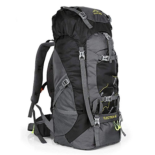 Hiking 60l Water Reasistant Durable Daypack Climbing Cyclingblack Trekking Travel Fishing Lightweight Bag Outdoor Sport For Backpack Mountaineering T1lFJcKu3